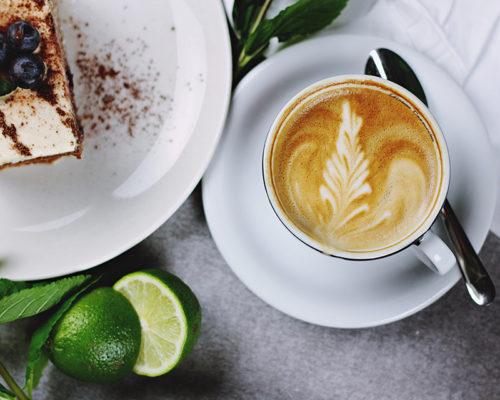 Lecker Cappuccino in der Kaffeestopp Kaffeerösterei