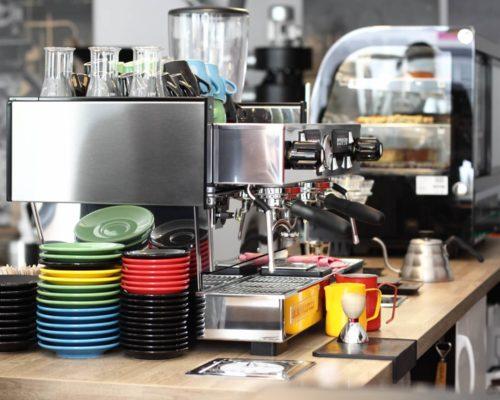 Kaffeemaschine in der Kaffeestopp Kaffeerösterei