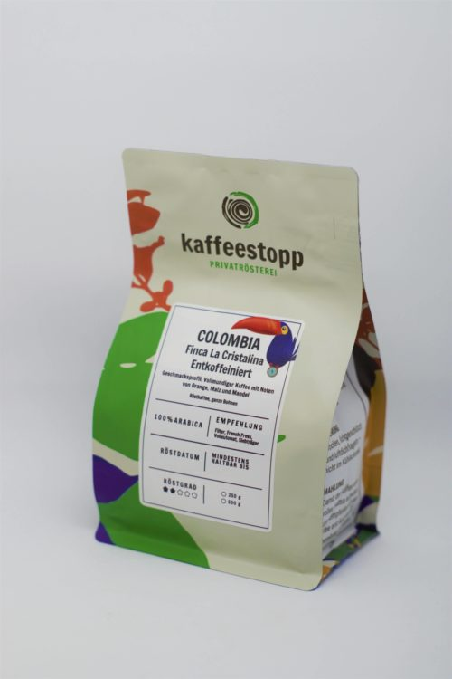 columbia kaffee entkoffeiniert in der kaffeestopp privatrösterei