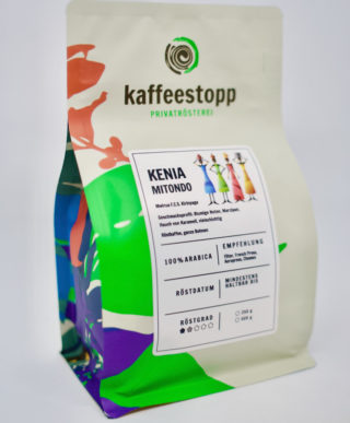 Kenia Kaffe Verpackung von Kaffeestopp